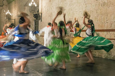 Abstract Movement Photograph - Mexico, Oaxaca, Mexican Folk Dance by Rob Tilley