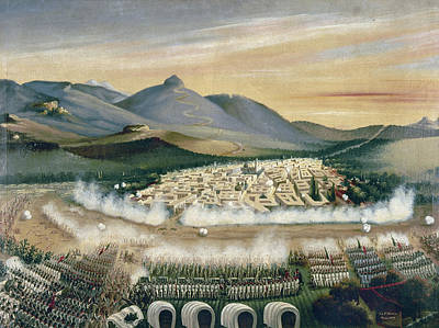 Conservative Painting - Mexico Reform War, 1860 by Granger