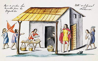 Cook Drawings Drawing - Mexico Spanish Explorers by Granger