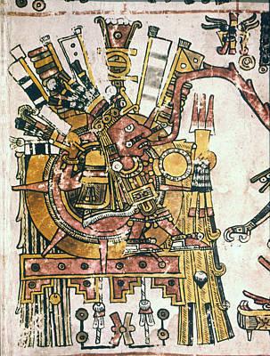 Borgia Painting - Mexico Sun God, C1450 by Granger