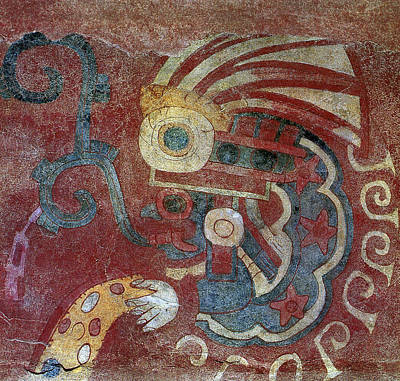 7th Century Painting - Mexico Teotihuacan Fresco by Granger