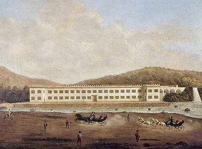 Horse And Buggy Painting - Mexico Textile Factory by Granger