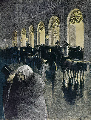 Rain Drawing - Mexico Theater, 1898 by Granger