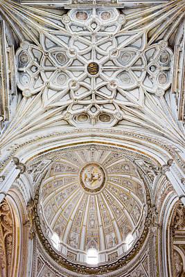 Mezquita Photograph - Mezquita Cathedral Ceilings In Cordoba by Artur Bogacki