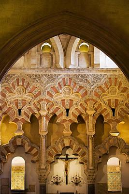 Mezquita Photograph - Mezquita Interior Islamic Architecture by Artur Bogacki