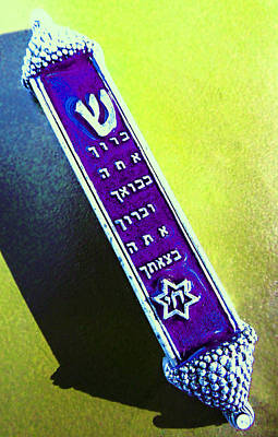 Photograph - Mezuzah by Laurie Tsemak