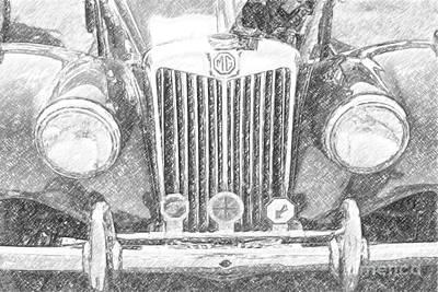 Digital Art - Mg Automobile by Dale Powell