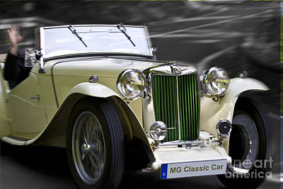 Mg Classic Car In Action Art Print by Heiko Koehrer-Wagner