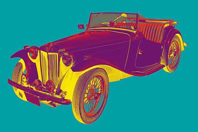 Photograph - Mg Convertible Antique Car Pop Art by Keith Webber Jr