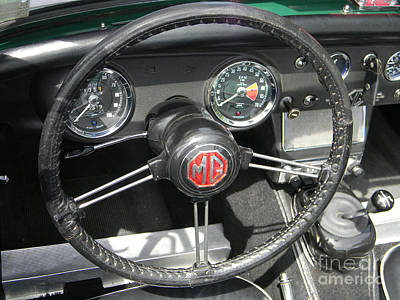 Photograph - Mg Midget Instrument Panel by Neil Zimmerman