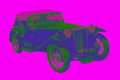 Royalty-Free and Rights-Managed Images - Mg Tc Antique Car Pop Image by Keith Webber Jr