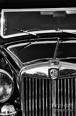 Automobile Hood Photograph - Mg Va Tickford Drophead Coupe by Tim Gainey