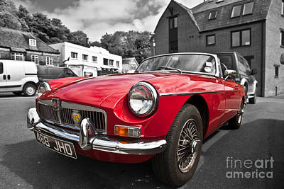 Photograph - Mgb Gt In Red by Anthony Morgan
