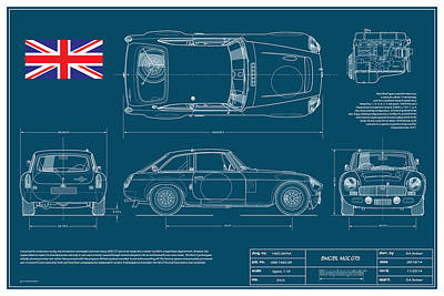 Mgc.gts Blueplanprint Print by Douglas Switzer