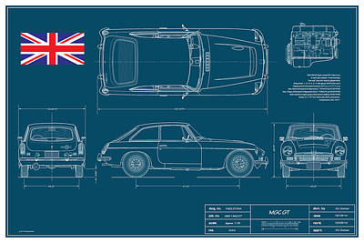 Mgc Gt Blueplanprint Original by Douglas Switzer