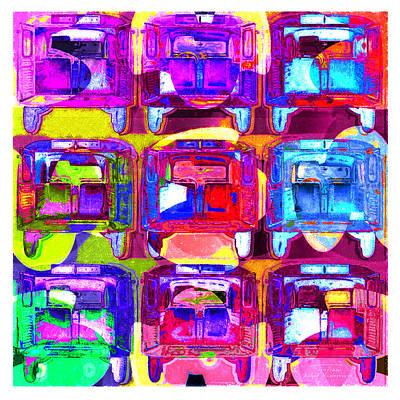 Sixties Drawing - Mgl - Automotive Fun Citroen 02 by Joost Hogervorst