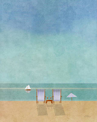 Chair Drawing - Mgl - Bathers 02 by Joost Hogervorst