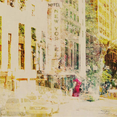 Mgl - City Collage - New York 08 Art Print by Joost Hogervorst