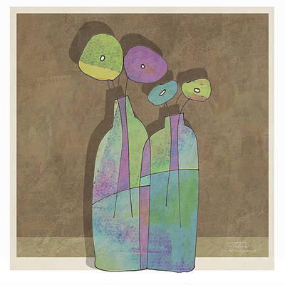 Purple Flowers Drawing - Mgl - Flowers 01 by Joost Hogervorst