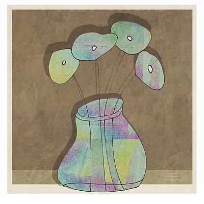Purple Flowers Drawing - Mgl - Flowers 02 by Joost Hogervorst