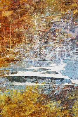 Harbour Drawing - Mgl - Gold Mediterrane 05 by Joost Hogervorst