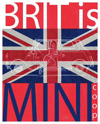 Mini Drawing - Mgl - Travel Brit Is 03 by Joost Hogervorst