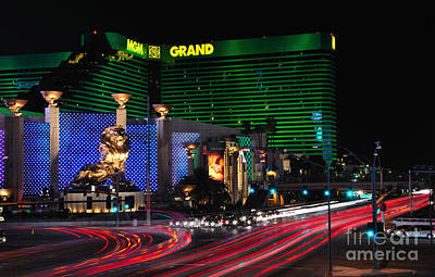 Photograph - Mgm Grand Hotel And Casino by Eddie Yerkish
