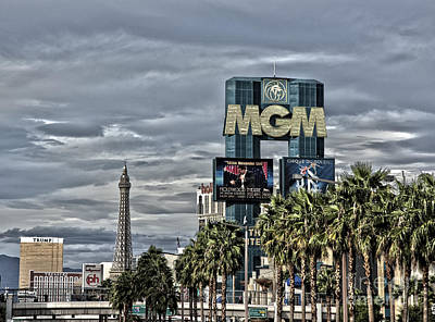 Mgm Hotel And Las Vegas  Art Print by Philip Pound