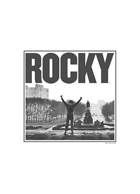 Stallone Digital Art - Mgm - Rocky - Top Of The Stairs by Brand A