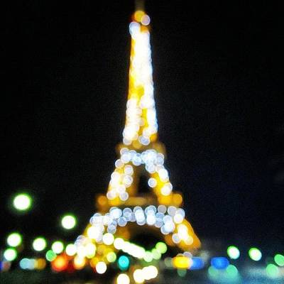 Light Photograph - #mgmarts #paris #france #europe #eiffel by Marianna Mills