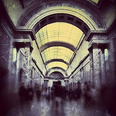 Light Photograph - #mgmarts #paris #france #europe #louvre by Marianna Mills