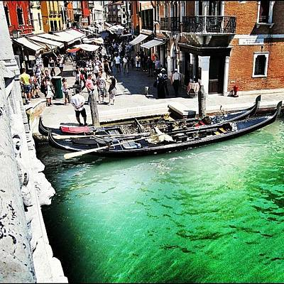 Green Wall Art - Photograph - #mgmarts #venice #italy #europe #canal by Marianna Mills
