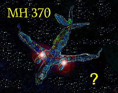 Great Mysteries Painting - Mh 370 Mystery by David Lee Thompson