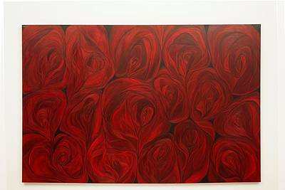 Rosen Painting -  Red Roses Mi Amore by Joan Giacchi-Eccarius