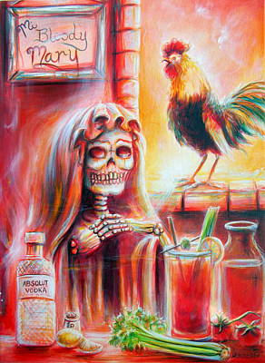 Bloody Mary Painting - Mi Bloody Mary by Heather Calderon