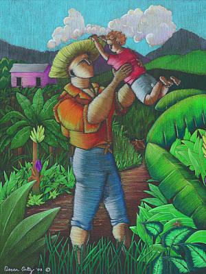 Painting - Mi Futuro Y Mi Tierra by Oscar Ortiz