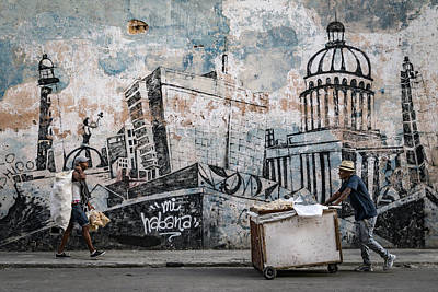 Plaster Photograph - Mi Habana by Andreas Bauer