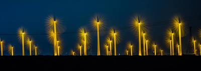 Photograph - Mi3 Wind Turbines 2 by Scott Campbell