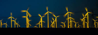 Photograph - Mi3 Wind Turbines 3 by Scott Campbell