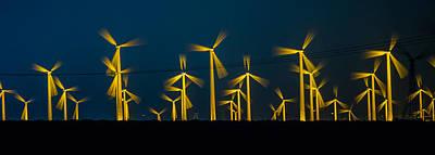 Pano Photograph - Mi3 Wind Turbines 4 by Scott Campbell