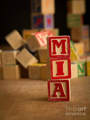 Mia - Alphabet Blocks Print by Edward Fielding