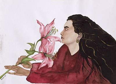 Mia Figlia, 1995 Wc On Paper Art Print by Susan Adams