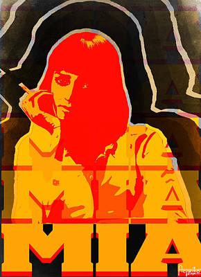 Mia Wallace In Pulp Fiction  Art Print