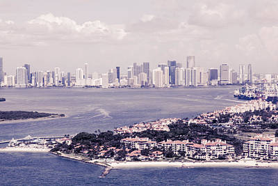 Mixed Media - Miami Aerial by Maria Lankina