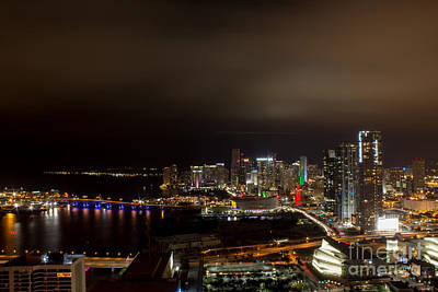 Miami After Dark Art Print by Rene Triay Photography