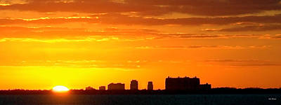 Photograph - Miami At Sundown by Bibi Rojas
