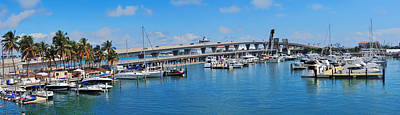 Photograph - Miami Bayside Marketplace by Songquan Deng