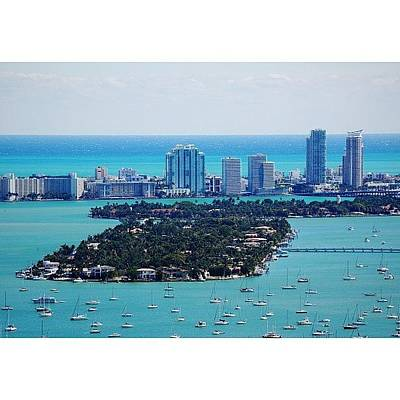 Architectureporn Photograph - Miami Beach & Biscayne Bay by Joel Lopez