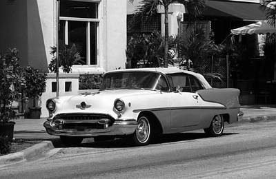 Photograph - Miami Beach Classic Car 3 by Frank Romeo
