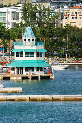 Photograph - Miami Beach Marina Fuel Dock by Ed Gleichman